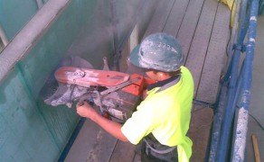 Hand Sawing Concrete